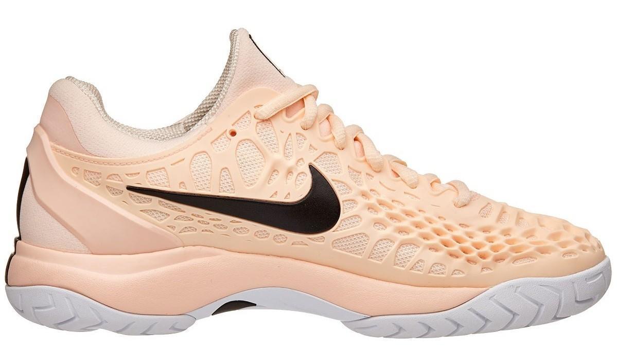 Теннисные кроссовки женские Nike WMNS Air Zoom Cage 3 HC crimson tint/black/white