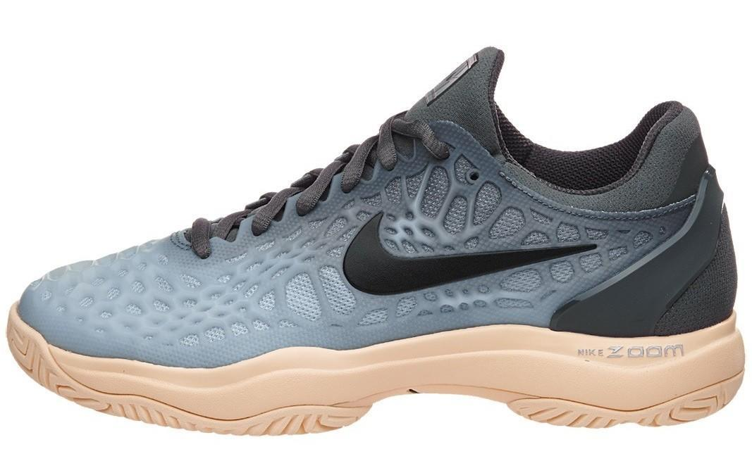 Теннисные кроссовки женские Nike WMNS Air Zoom Cage 3 HC dark grey/black/orange quartz/wolf grey