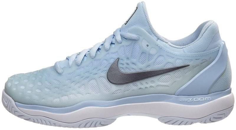 Теннисные кроссовки женские Nike WMNS Air Zoom Cage 3 hydrogen blue/metallic dark grey