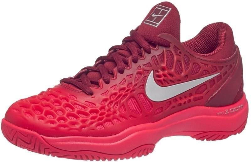 Теннисные кроссовки женские Nike WMNS Air Zoom Cage 3 team red/metallic silver