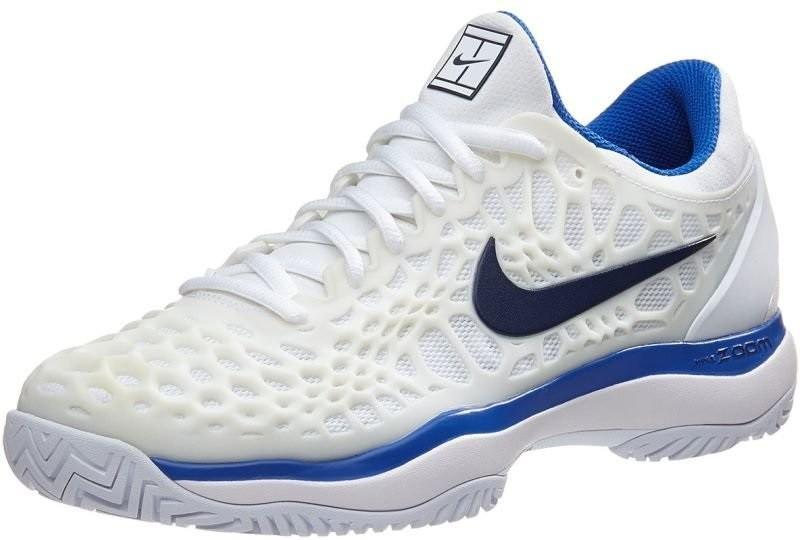 Теннисные кроссовки женские Nike WMNS Air Zoom Cage 3 white/binary blue/mega blue