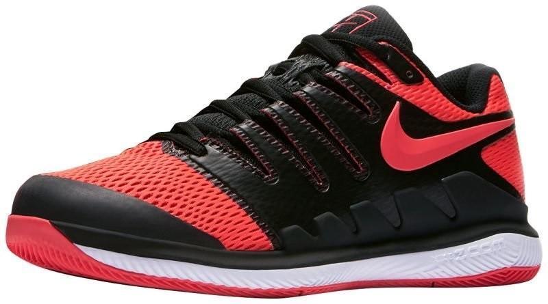 Теннисные кроссовки женские Nike WMNS Zoom Vapor 10 HC black/solar red/white