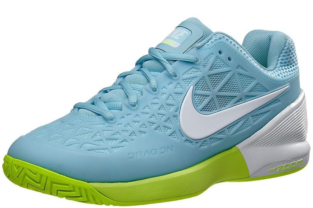 Теннисные кроссовки женские Nike Zoom Cage 2 EU still blue/white/volt