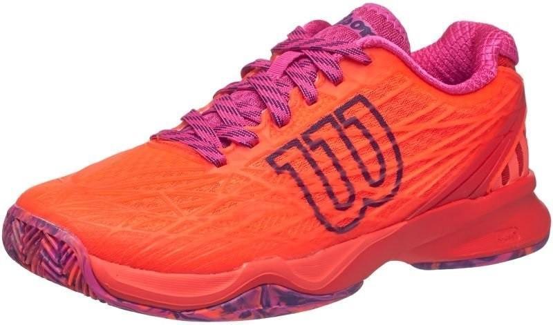 Теннисные кроссовки женские Wilson Kaos ГРУНТ fiery coral/fiery red/rose violet