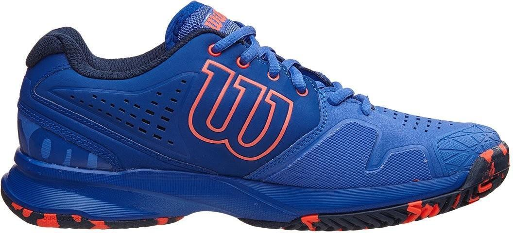 Теннисные кроссовки женские Wilson Kaos Comp amparo blue/surf the web/fiery coral