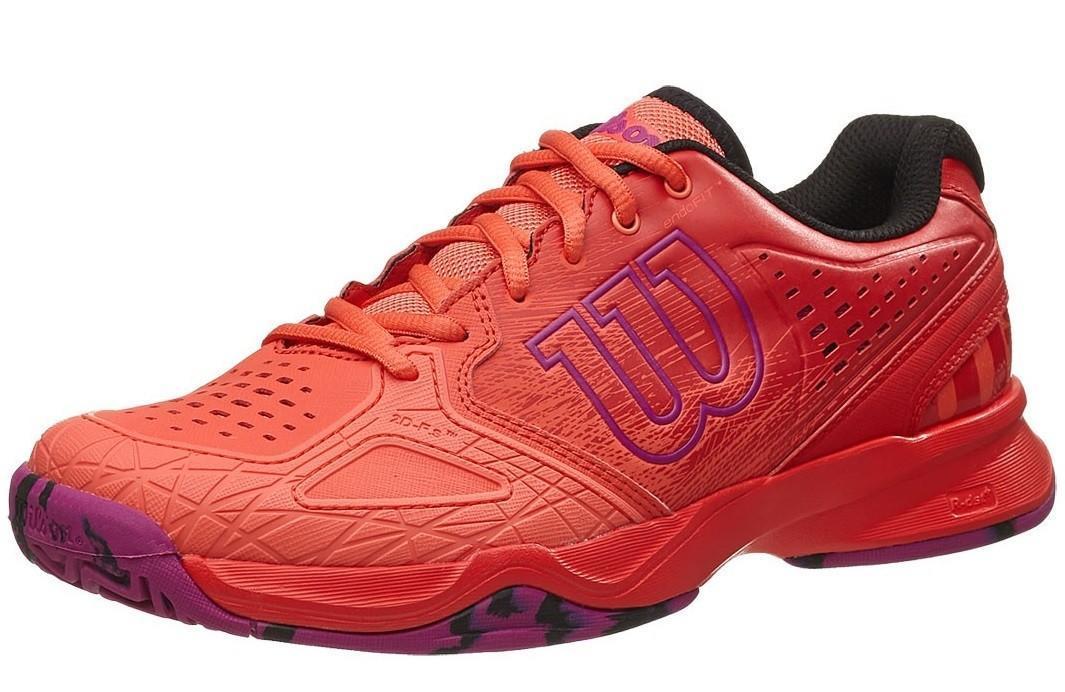 Теннисные кроссовки женские Wilson Kaos Comp radiant red/coral/azalee pink