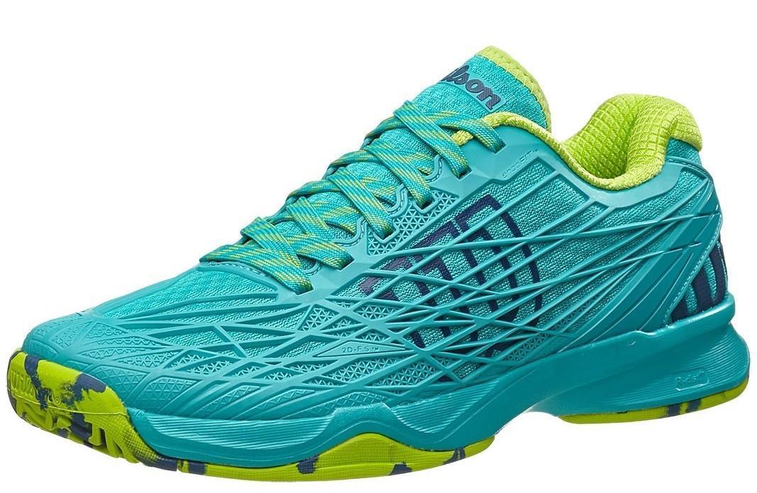 Теннисные кроссовки женские Wilson Kaos teal blue/granny green