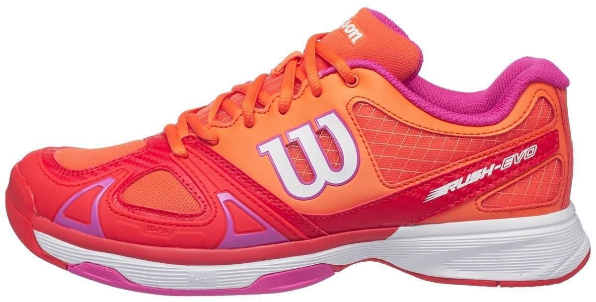 Теннисные кроссовки женские Wilson Rush Evo nasturtium/fiery red/rose violet