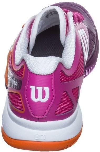 Теннисные кроссовки женские Wilson Rush Pro 2.0 fiesta pink/dark plumberry/clementine