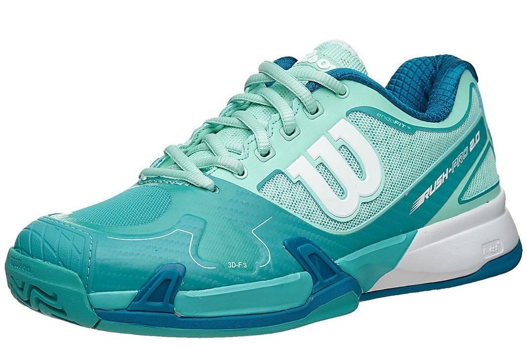 Теннисные кроссовки женские Wilson Rush Pro 2.0 W igloo blue/azure blue/ultra marine