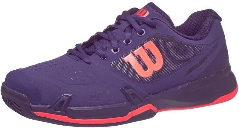Теннисные кроссовки женские Wilson Rush Pro 2.5 ГРУНТ astral aura/evening blue/fiery coral