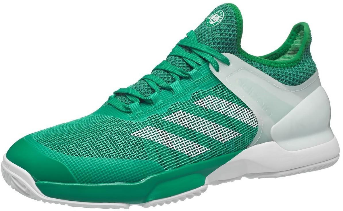 Теннисные кроссовки мужские Adidas Adizero Ubersonic 2 ГРУНТ core green/ftwr white/green vercor/ft