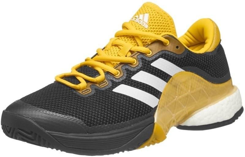 Теннисные кроссовки мужские Adidas Barricade 2017 Boost core black/ftwr white/eqt yellow