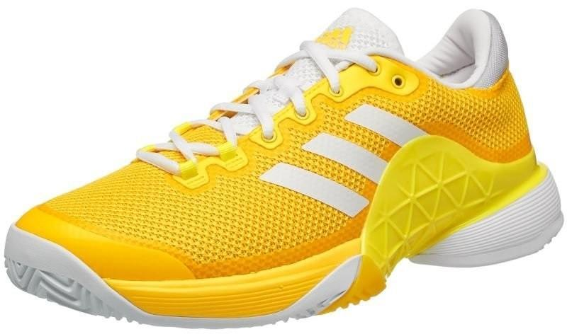 Теннисные кроссовки мужские Adidas Barricade 2017 eqt yellow/ftwr white/bright yellow