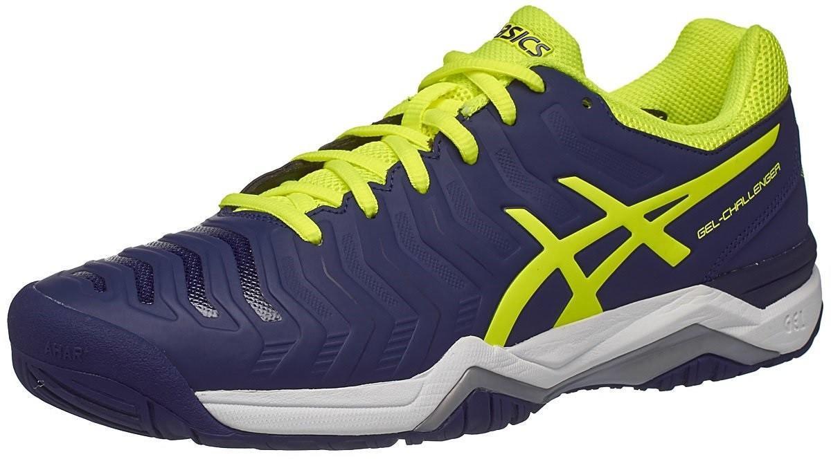 Теннисные кроссовки мужские Asics Gel-Challenger 11 indigo blue/safety yellow/silver