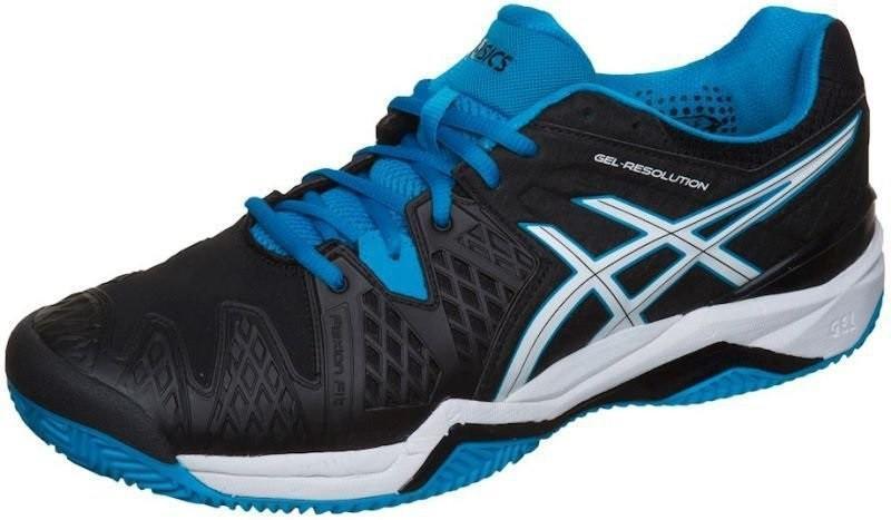 Теннисные кроссовки мужские Asics Gel-Resolution 6 ГРУНТ black/blue jewel/white
