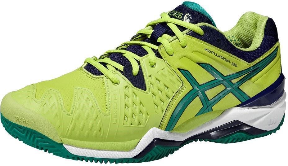 Теннисные кроссовки мужские Asics Gel-Resolution 6 ГРУНТ lime/pine/indigo blue
