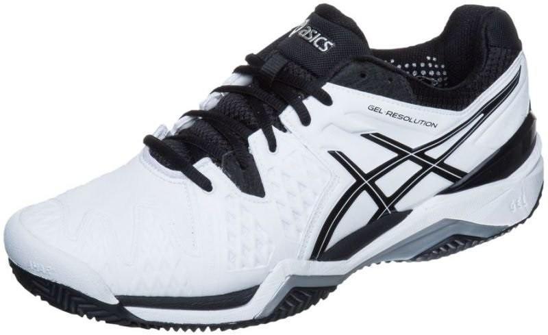 Теннисные кроссовки мужские Asics Gel-Resolution 6 ГРУНТ white/black/silver