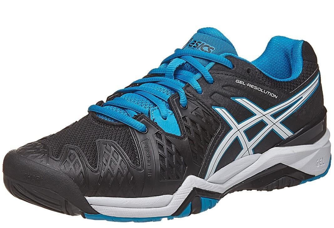 Теннисные кроссовки мужские Asics Gel-Resolution 6 black/blue jewel/white