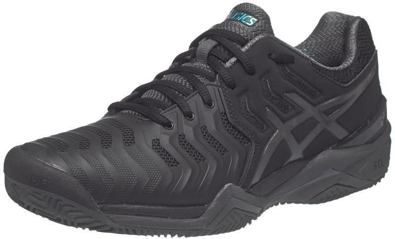 Теннисные кроссовки мужские Asics Gel-Resolution 7 ГРУНТ black/dark grey/lapis