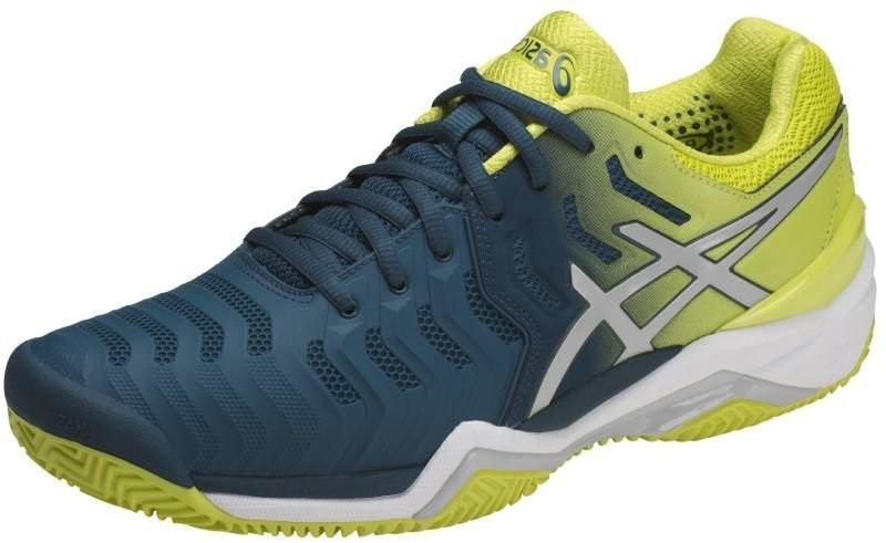 Теннисные кроссовки мужские Asics Gel-Resolution 7 ГРУНТ ink blue/sulphur spring/white