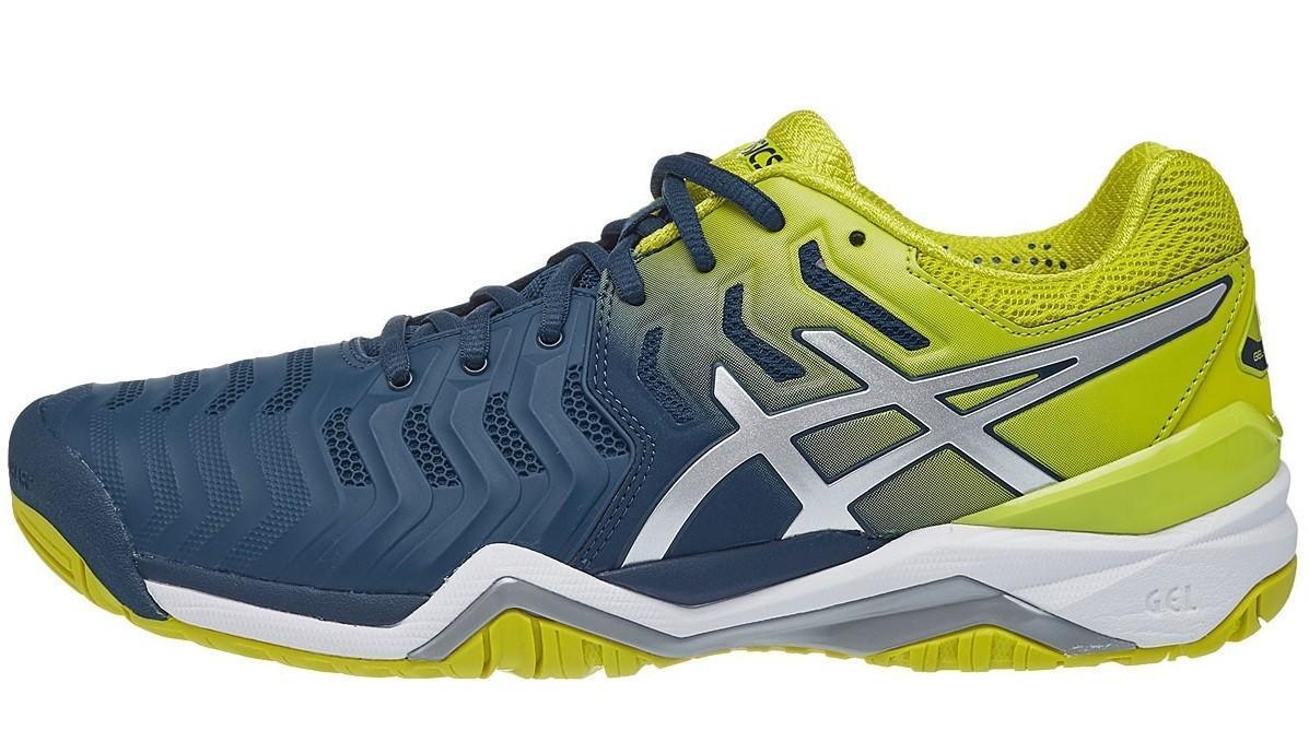 Теннисные кроссовки мужские Asics Gel-Resolution 7 Blue/Sulphur