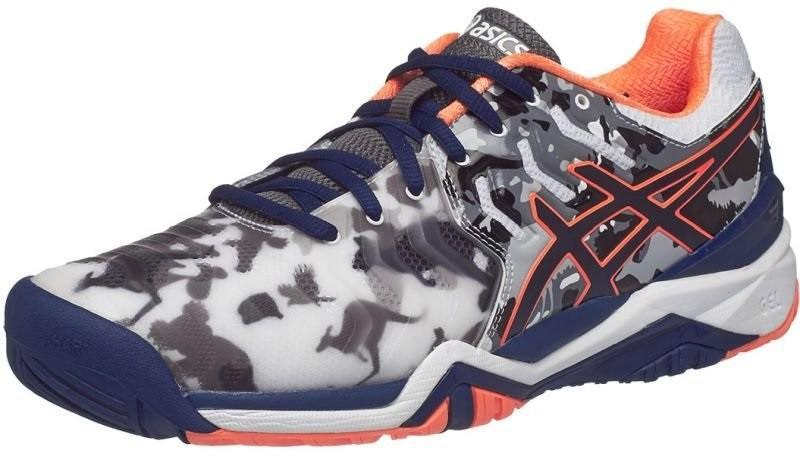 Теннисные кроссовки мужские Asics Gel-Resolution 7 L.E. Melbourne white/indigo blue/hot orange