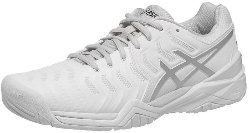 Теннисные кроссовки мужские Asics Gel-Resolution 7 white/silver