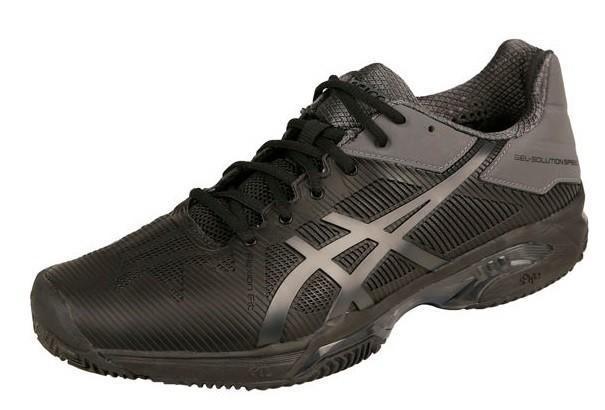 Теннисные кроссовки мужские Asics Gel-Solution Speed 3 ГРУНТ black/dark grey