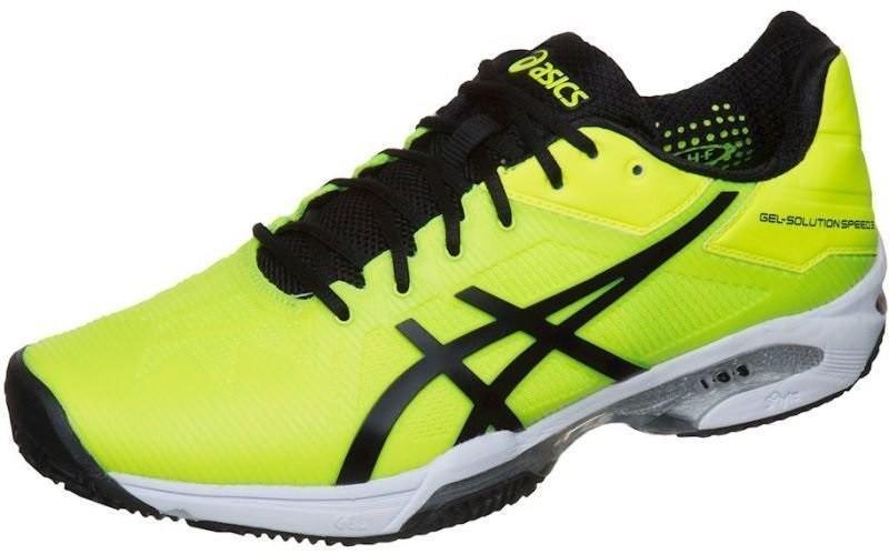 Теннисные кроссовки мужские Asics Gel-Solution Speed 3 ГРУНТ safety yellow/black/white