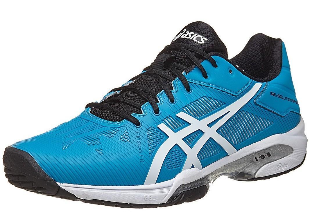 Теннисные кроссовки мужские Asics Gel-Solution Speed 3 blue jewel/white/black