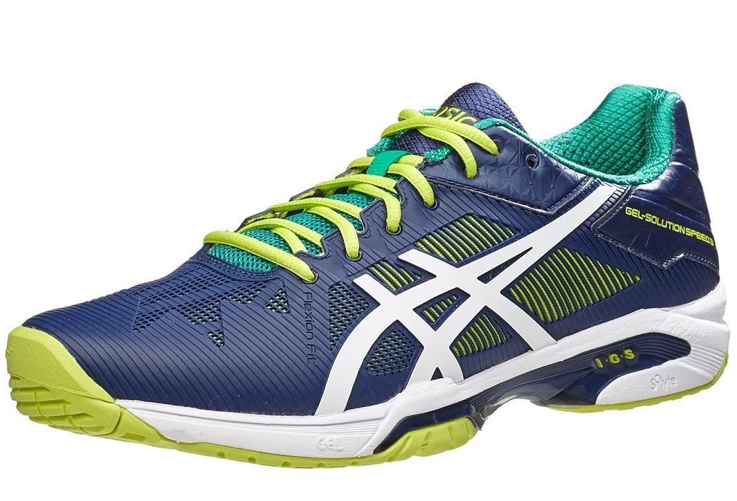 Теннисные кроссовки мужские Asics Gel-Solution Speed 3 indigo blue/white/lime
