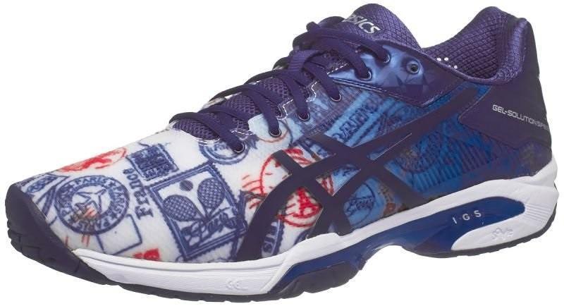 Теннисные кроссовки мужские Asics Gel-Solution Speed 3 L.E. Paris imperial/indigo blue/vermilion