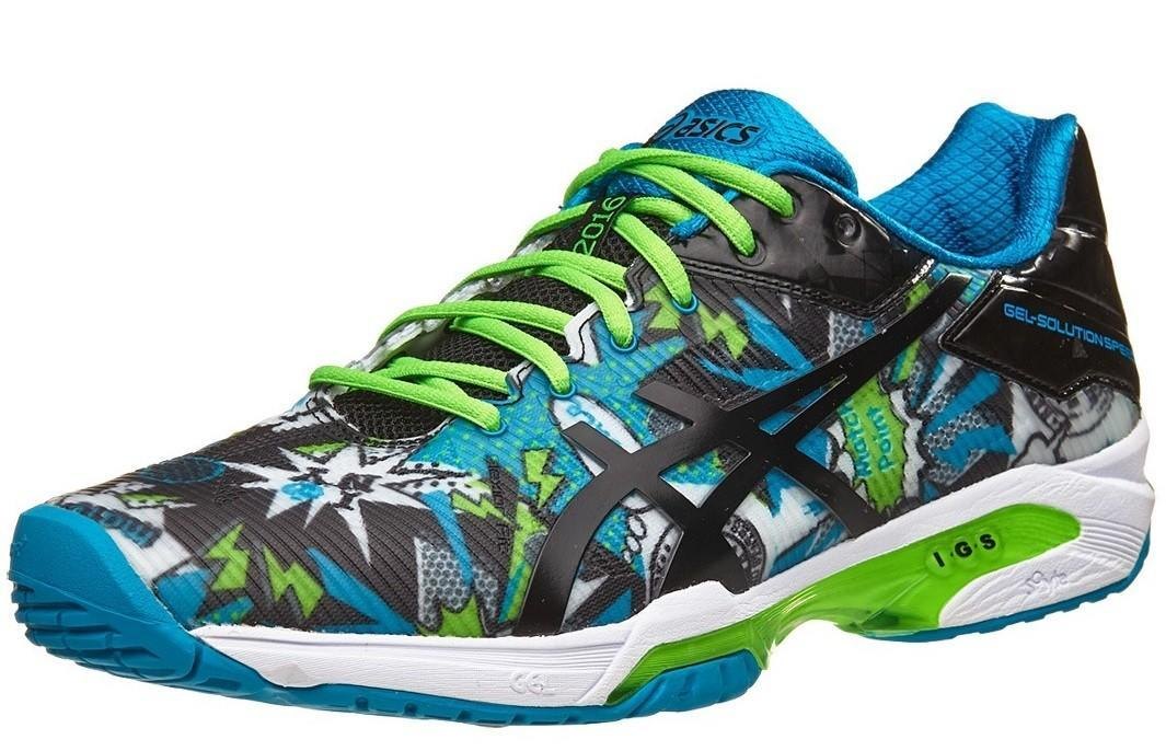 Теннисные кроссовки мужские Asics Gel-Solution Speed 3 NYC white/black/green gecko