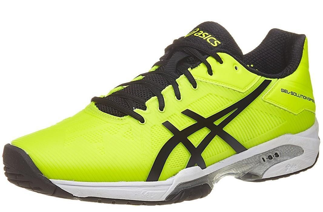 Теннисные кроссовки мужские Asics Gel-Solution Speed 3 safety yellow/black/white