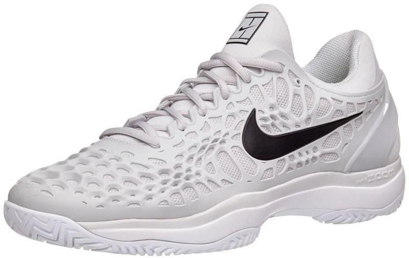 Теннисные кроссовки мужские Nike Air Zoom Cage 3 ГРУНТ vast grey/white/black