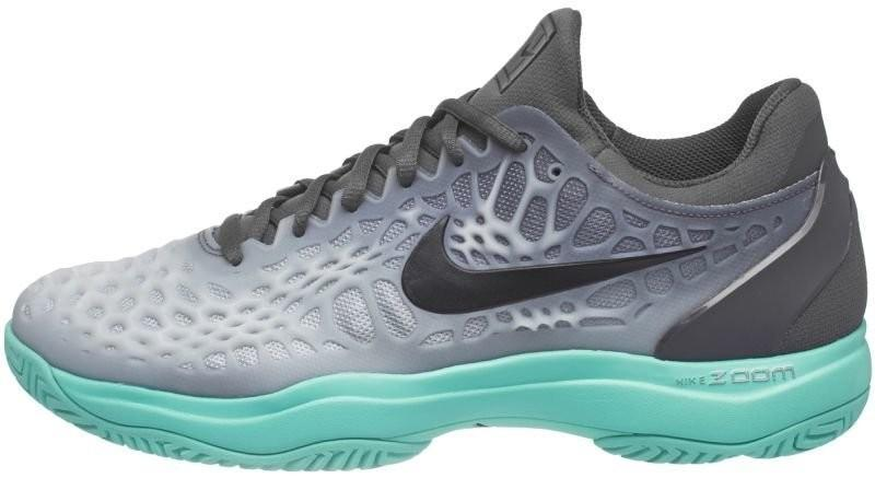 Теннисные кроссовки мужские Nike Air Zoom Cage 3 dark grey/black/aurora green