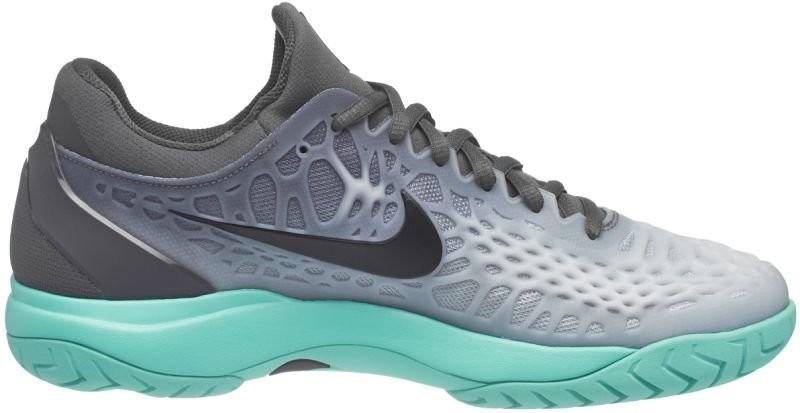 7ef8873f0ce5fd ... Тенісні кросівки чоловічі Nike Air Zoom Cage 3 dark grey/black/aurora  green ...