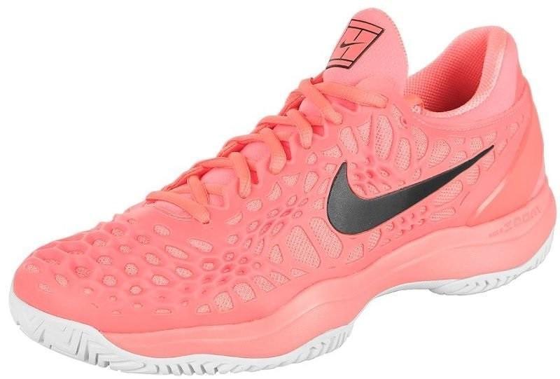 Теннисные кроссовки мужские Nike Air Zoom Cage 3 HC lava glow/black/white