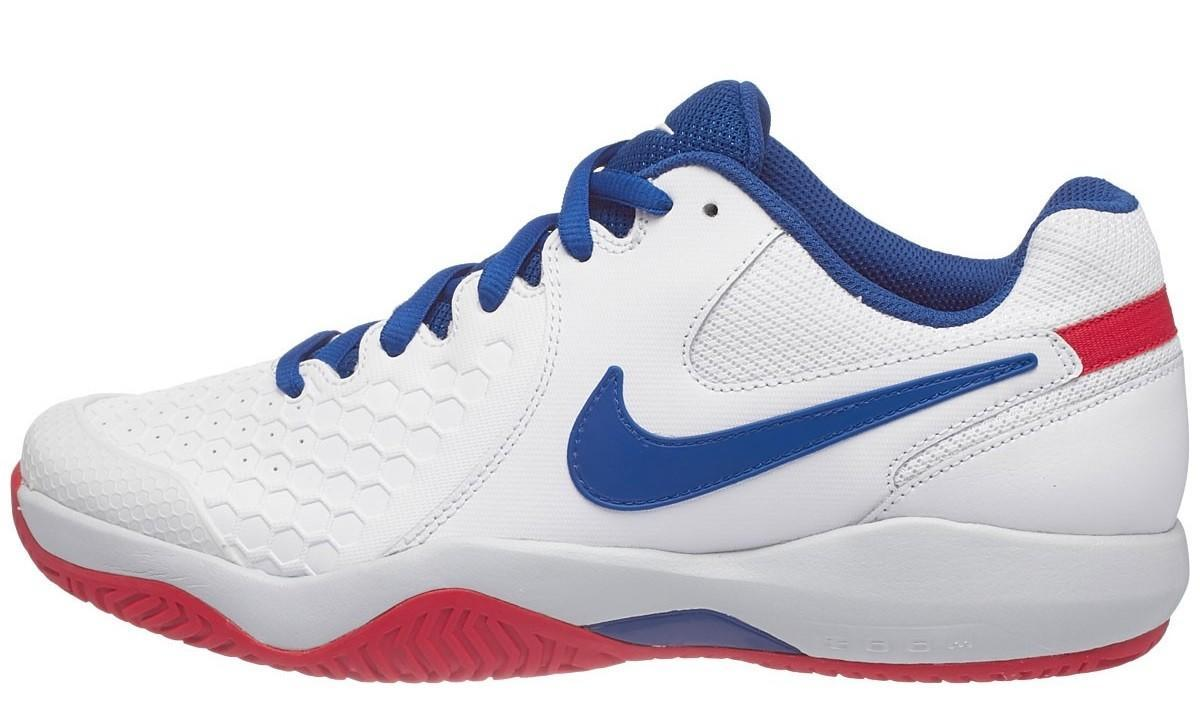 Теннисные кроссовки мужские Nike Air Zoom Resistance white/blue jay-pure platinum
