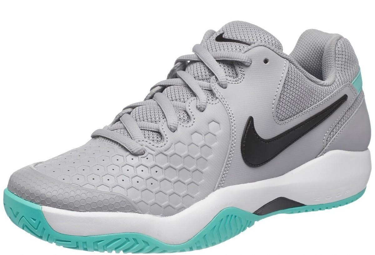 Теннисные кроссовки мужские Nike Air Zoom Resistance wolf grey/black/white