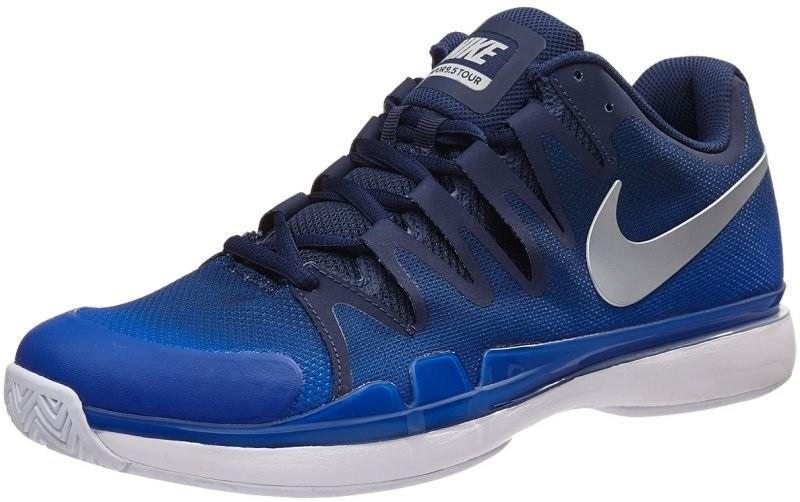 Теннисные кроссовки мужские Nike Zoom Vapor 9.5 Tour midnight navy/metallic silver