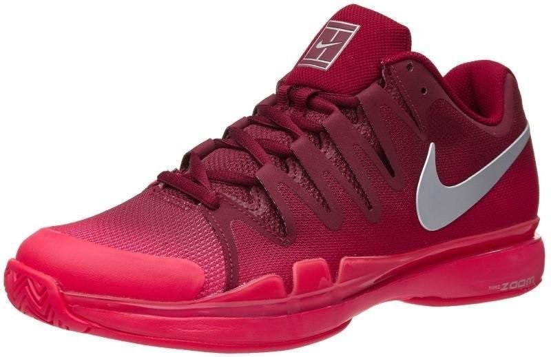 Теннисные кроссовки мужские Nike Zoom Vapor 9.5 Tour team red/metallic silver