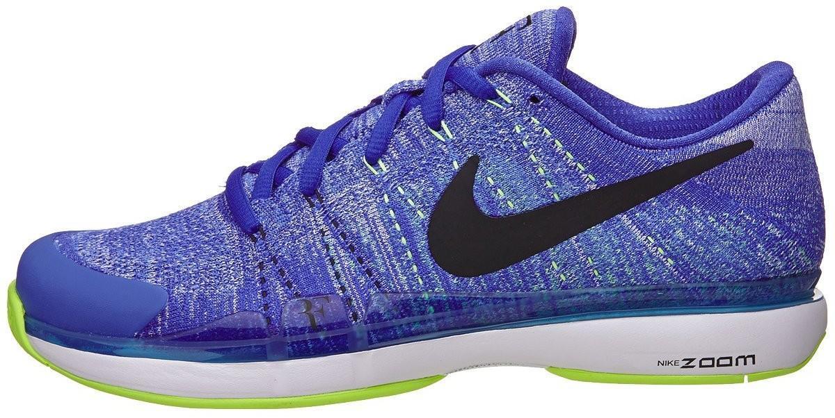 Теннисные кроссовки мужские Nike Zoom Vapor Flyknit HC QS paramount blue/black