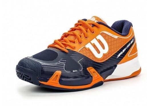 Теннисные кроссовки мужские Wilson Rush Pro 2.0 clementine/navy/white