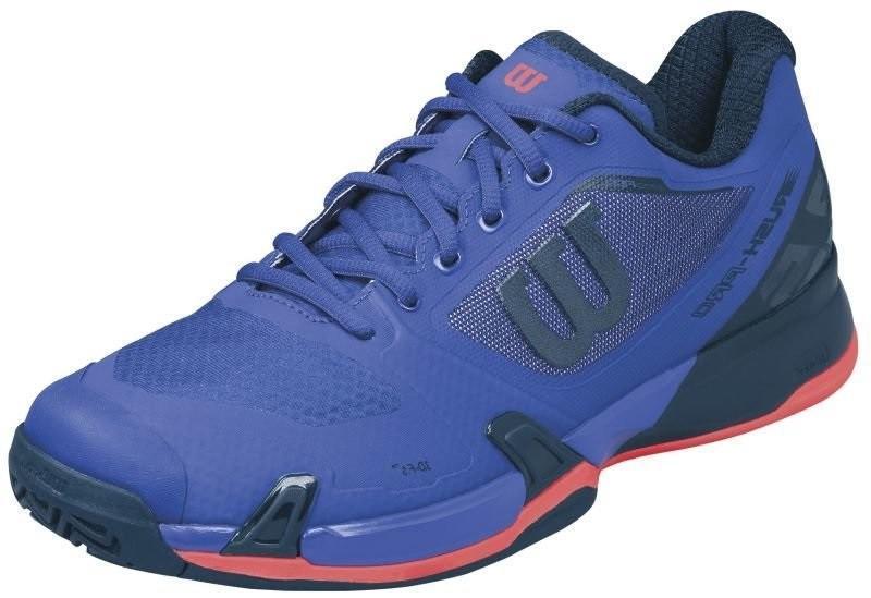 Теннисные кроссовки мужские Wilson Rush Pro 2.5 spectrum blue/navy blazer/fiery coral