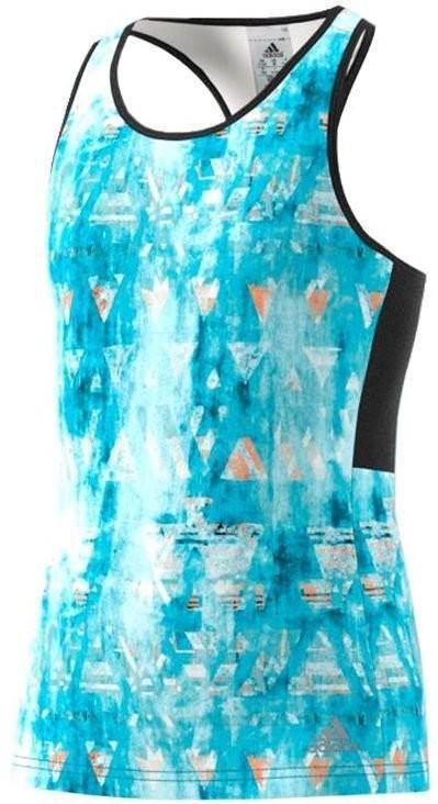 Теннисная майка детская Adidas Essex Trend Tank samba blue/black