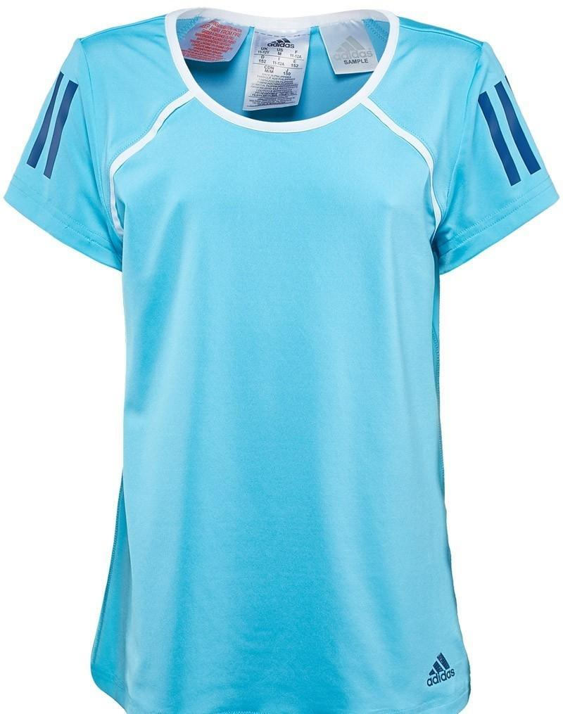 Теннисная футболка детская Adidas Club Tee samba blue/white