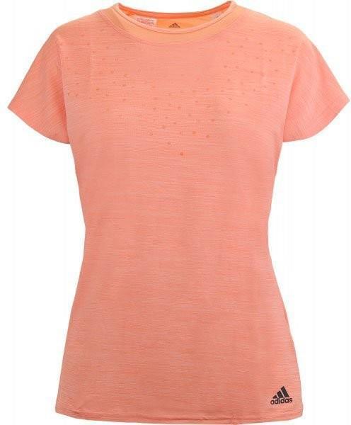 Теннисная футболка детская Adidas Dotty Tee chalk coral