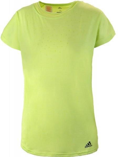 Теннисная футболка детская Adidas Dotty Tee semi frozen yellow